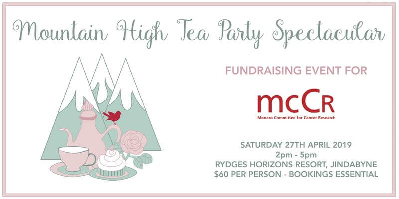 See us at the Mountain High Tea Fundraiser!