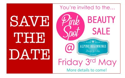 Pink Spot Beauty Sale Coming Up